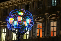 Artistic lights in Turin Stock Photos