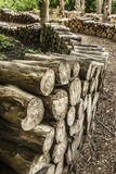 Artistic Log Pile Royalty Free Stock Photos