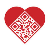 Artistic love QR Code Royalty Free Stock Images