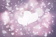 Artistic love you hearts copy space background Stock Photos