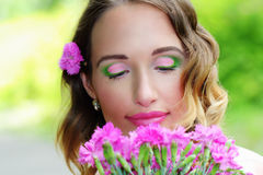 Artistic makeup Stock Images