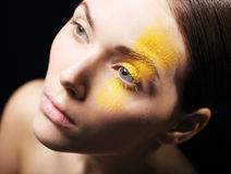 Artistic makeup, expression, imagination Royalty Free Stock Photo