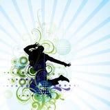 Artistic man jumping poster Stock Image