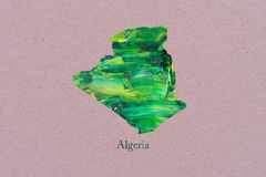 Artistic Map of Algeria stock illustration