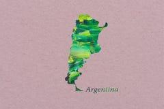 Artistic Map of Argentina stock illustration