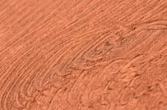 Artistic markings on clay tennis court Royalty Free Stock Photos