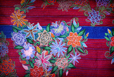 Artistic mexican embroidery stock image