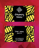 Artistic modern business card template. Corporate identity Stock Photography