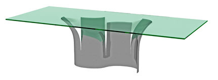 Artistic Modern Glass Topped Table Stock Images
