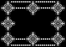Artistic monochrome border  Royalty Free Stock Photo