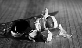 Artistic monochrome image of garlic Royalty Free Stock Photos