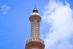 Free Artistic Mosque Minarets And Dome Building Architecture Stock Image - 215477541