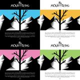 Artistic Mountain wallpaper with tree warm color Royalty Free Stock Photos