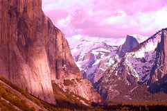 Artistic mountains Royalty Free Stock Photo