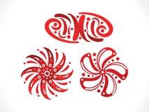 Artistic multiple floral shapes. Vector illustration stock illustration