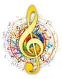 Artistic music key illustration stock illustration