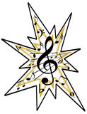 Music Notes Icon or Logo PNG. Artistic musical notes icon or logo.  Tranparent PNG is available Stock Photo