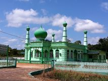 Artistic muslim mosque in Suriname Stock Photo