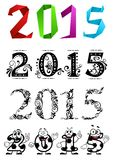 Artistic New Year 2015 numbers and digits Stock Photo