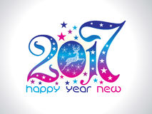 Artistic new year text. Vector illustration Stock Photo