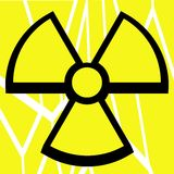 Artistic Nuclear clover on abstract background Royalty Free Stock Photography