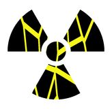 Artistic Nuclear clover isolated Royalty Free Stock Photo