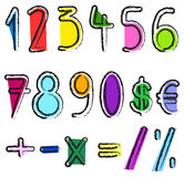 Artistic numbers Stock Images