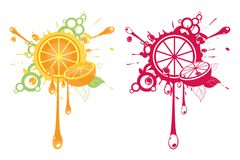 Artistic orange illustrations Royalty Free Stock Images