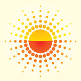 Artistic orange sun Royalty Free Stock Photo