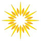 Artistic orange sun illustration Royalty Free Stock Photo
