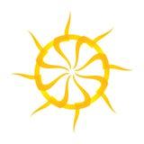 Artistic orange sun illustration Stock Image