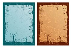 Artistic ornamented frames. With empty spaces for your text Stock Image