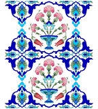 Artistic ottoman pattern series seventy one version. Inspired by the Ottoman decorative arts pattern designs Stock Photography