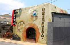 Artistic Overton Square Security Building. In Memphis Tennessee Stock Image