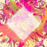 Artistic paint splashes template Stock Photo