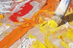 Paintbrush Art. Artistic Paintbrush creating a colorful art piece Royalty Free Stock Photos