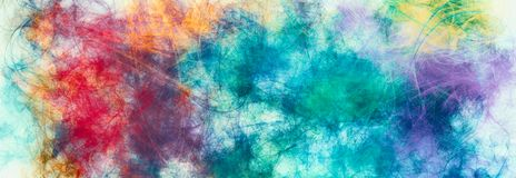 Free Artistic Painted Background. Random Paint Lines , Spots Iridescent Colors. Futuristic Pattern. Contemporary Sketch Stock Photography - 168561302
