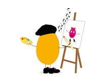 easter egg artistic painter Royalty Free Stock Photography