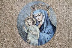Artistic painting of Virgin Mary with child Royalty Free Stock Images