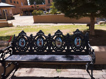 Artistic Park Bench in Santa Fe New Mexico USA Stock Photography