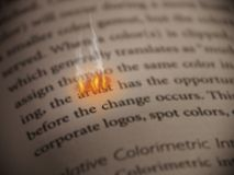 Artistic Passion. The word artist burns on the open page of a book Vector Illustration