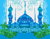 Artistic pattern background with mosque Royalty Free Stock Photo