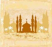 Artistic pattern background with mosque Stock Photos