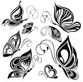 Artistic pattern with butterflies, suitable for a Royalty Free Stock Images