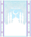 Artistic pattern  with moon and mosque Stock Photography