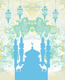 Artistic pattern with mosque Royalty Free Stock Photos