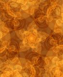 Artistic Pattern Texture Brown. An abstract texture of dark gold swirls, spirals and curls pattern circling inward Royalty Free Stock Photo