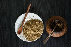 Yerba Mate, not just an infusion. Latin american culture stock image