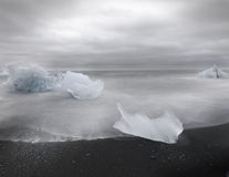 Artistic picture of ice blocks by the sea Stock Image