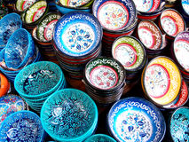 Artistic plates royalty free stock photography